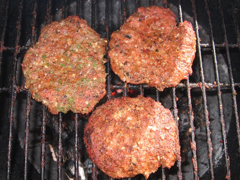 Eagle Rub Burgers With Diced Jalapenos, Onions, and Garlic